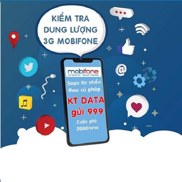 Làm sao để kiểm tra dung lượng gói 3G MobiFone còn lại là bao nhiêu?