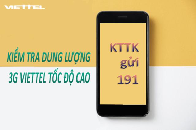 Cách kiểm tra dung lượng 3G Viettel tốc độ cao miễn phí tại nhà