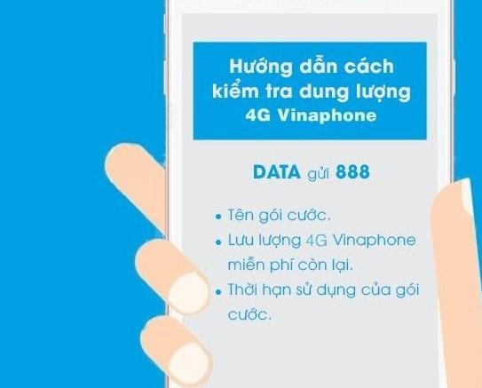 cách kiểm tra dung lượng 4g Vinaphone
